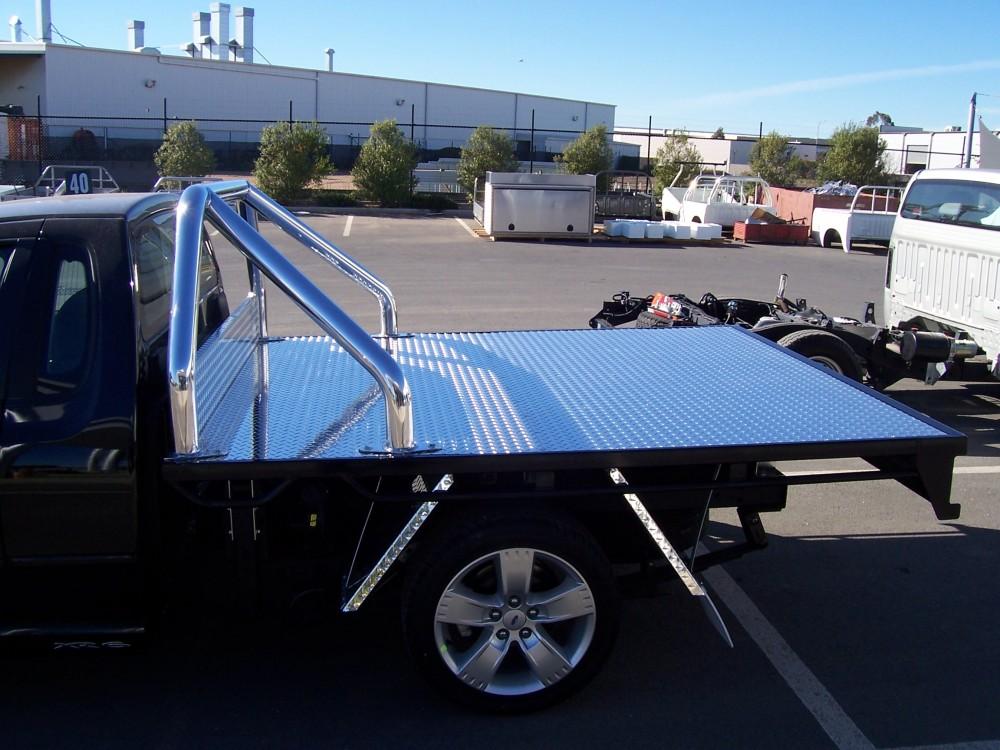 Custom Steel Tray With Sports Bar Aluminium Auto