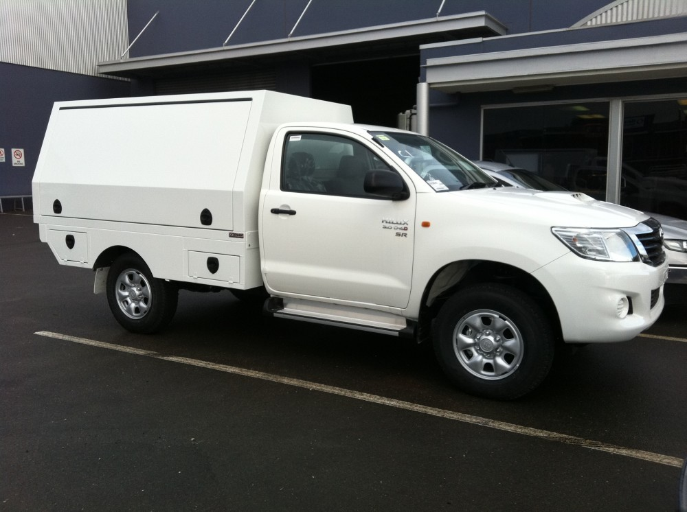 Hilux Service Body With False Floor Aluminium Auto