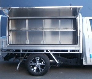 Plain Plate Tool Boxes With Shelves Aluminium Auto